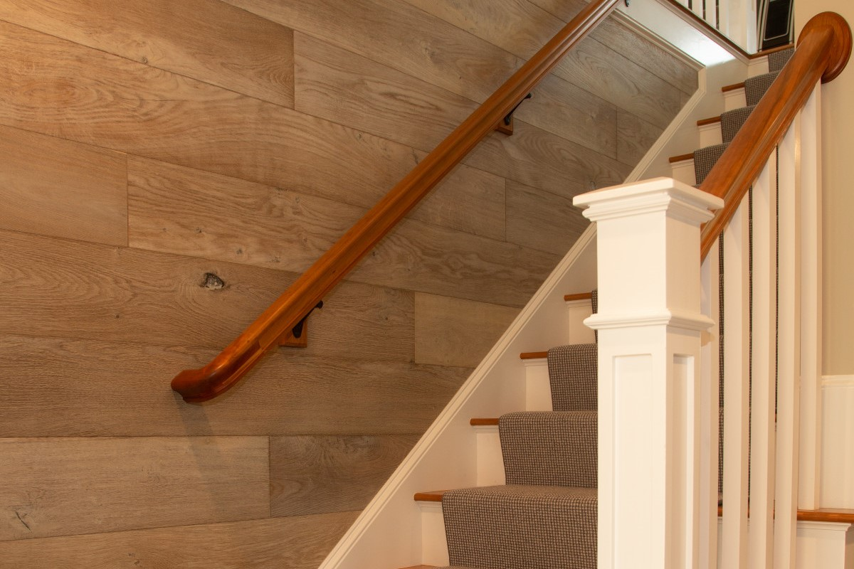 Interior stairway of new home
