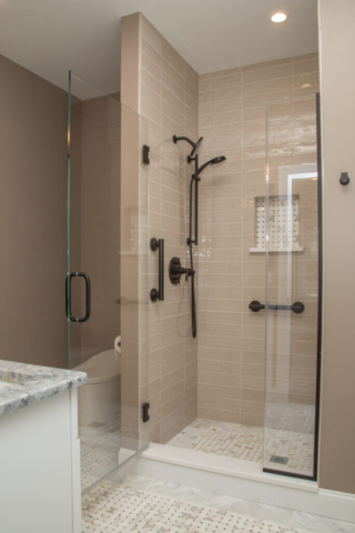 View of bathroom with walk-in shower