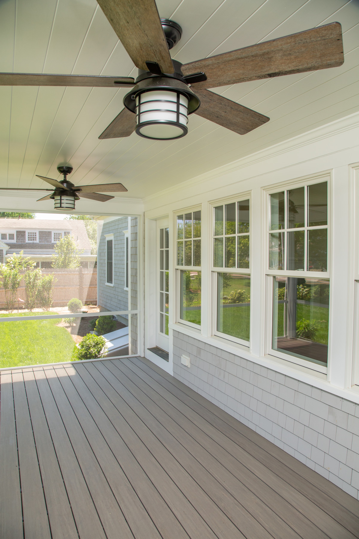 View of porch of new home