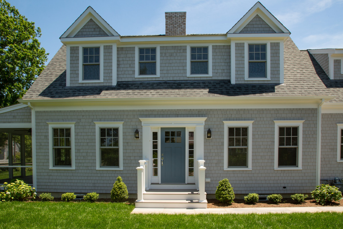 Front view of new home