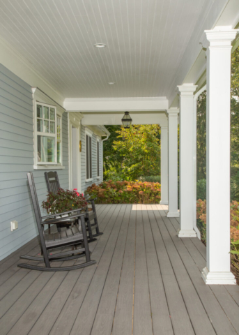 Front porch of new home in Centerville
