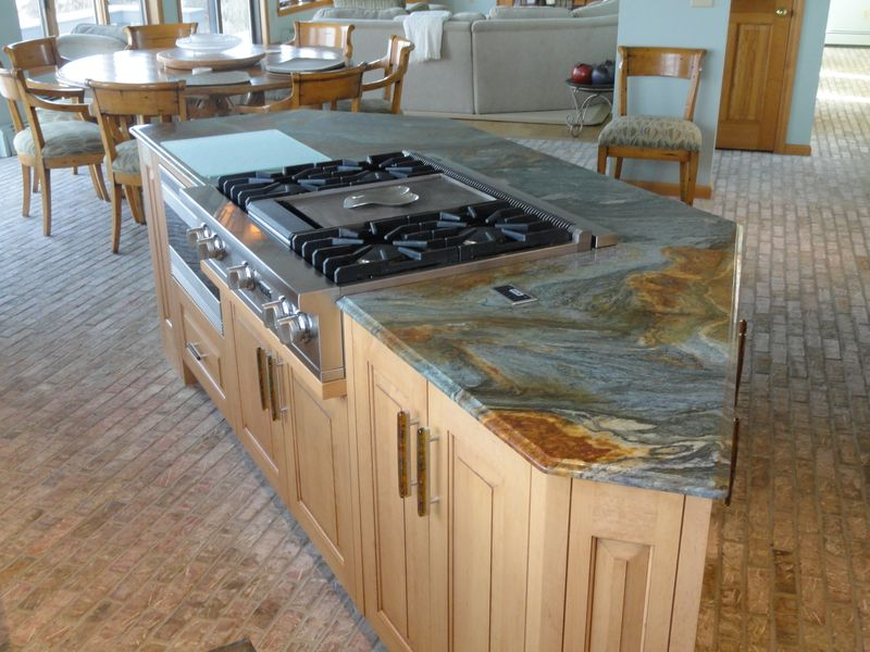 Kitchen remodeling, island with marble countertop