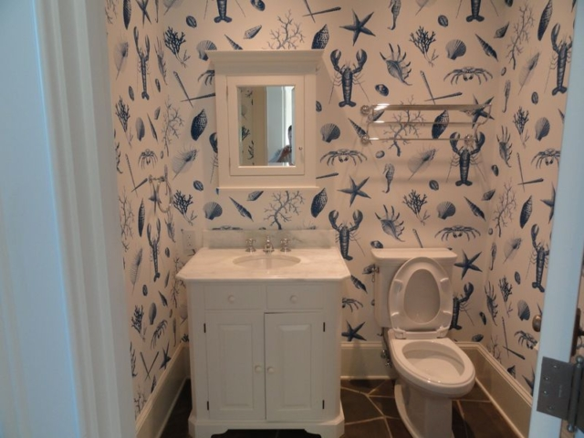 Guest bathroom in newly remodeled home