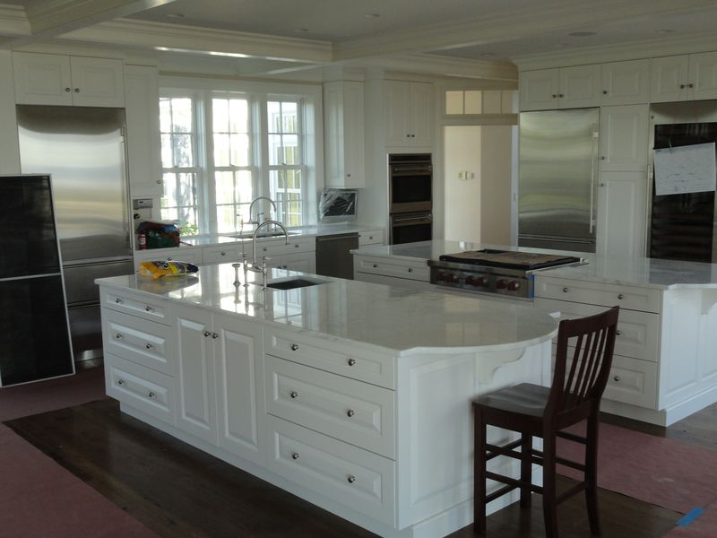 Newly remodeled kitchen, white with stainless steel appliances