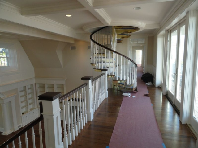 View of winding staircase