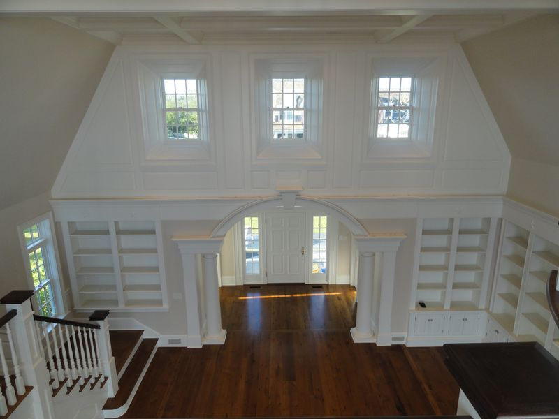 Front entryway, view from second floor